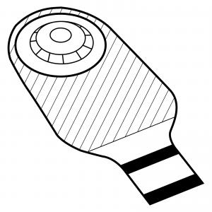 STOMOCUR® Ileostomiebeutel Protect Alginat konvex