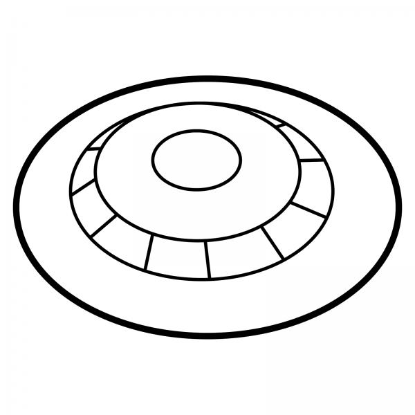 STOMOCUR® Clic Basisplatte konvex